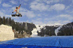 Freestyle big air bag Flaine